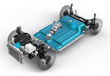 Hyundai Kona Elektro - Elektro Auto - e-Auto, Schema, Grafik, Konstruktion - Bild Hyundai