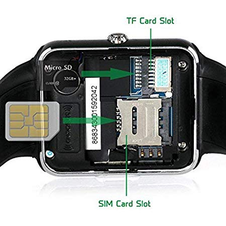 LATEC Bluetooth Smartwatch --- Funktionen – Facebook, Twitter und Whatsapp, Telefon - ca. 25 € bei Amazon - Smartwatch und autonome Staubsauger