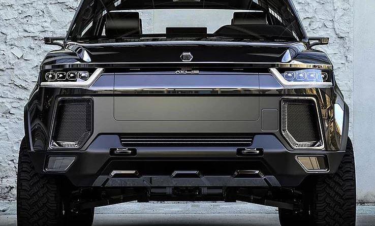 Atlas-Motor-Vehicles-Elektroauto-Concept-Car-Pick-Up-von-vorne