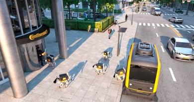 Continentals Vision – Das Autonom Auto bringt den Lieferroboter