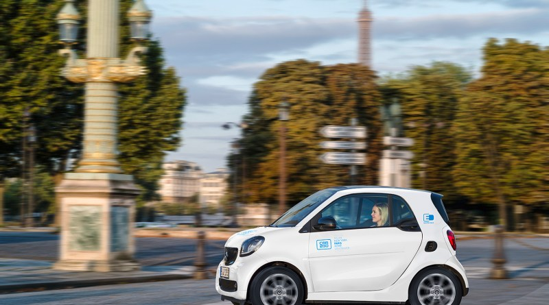 car2go - 400 Smart elektrautos für Paris, smart EQ fortwo