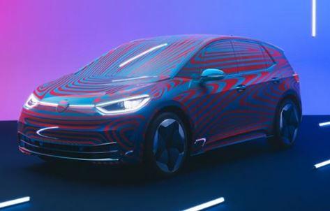 VW ID.3 - Noch im Tarnanzug -von vorne schräg links Foto VW
