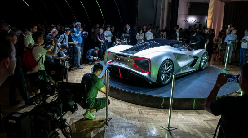 Lotus Evija - Lotus wird elektrisch. Lotus Evija bei der Präsentation vor Medienvertretern. Foto Lotus
