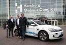 Fünf vollautomatisierte e-Golf fahren in Hamburg