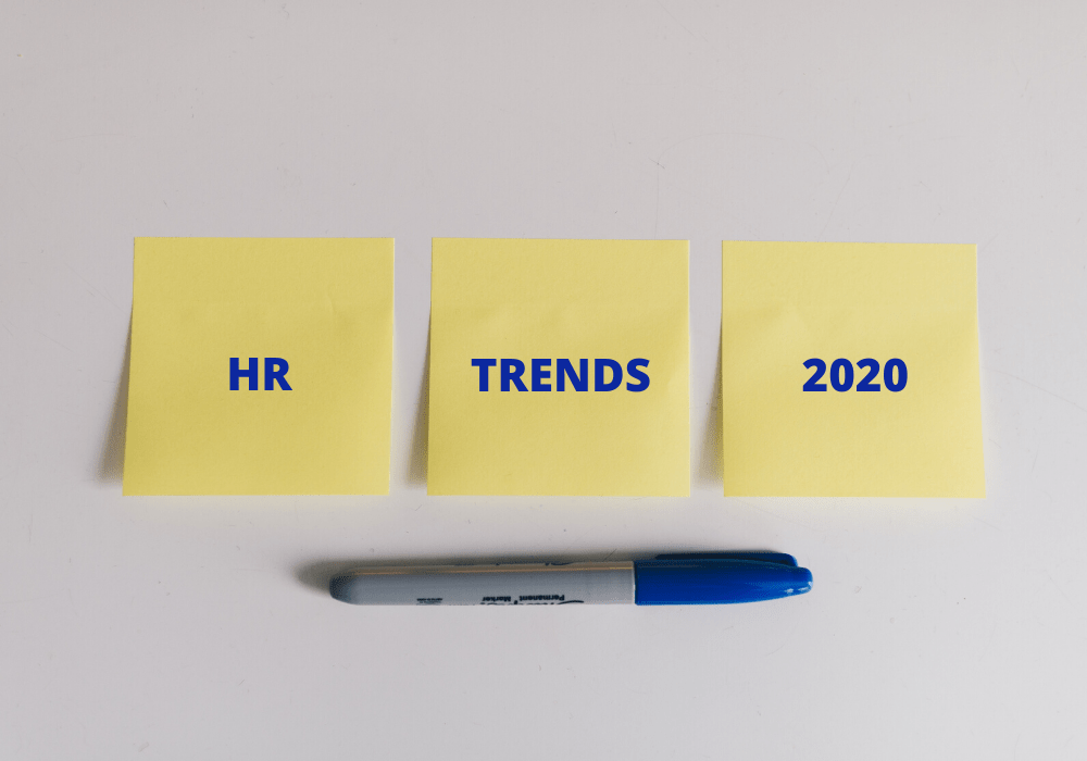 Hr trends 2020 on post-it and sharpie