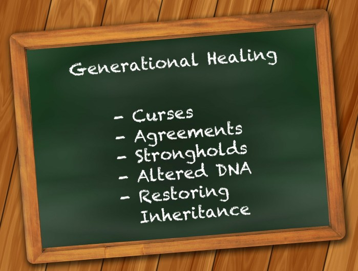 Generational Healing Generational Curses Generational Agreements Stronghold Spiritual Healing Courses Spiritual healing methods spiritual healing workshops christian spiritual healing