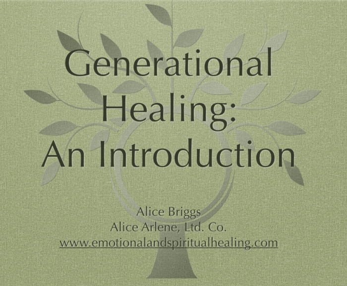 Generational Healing Webinar Introduction Free