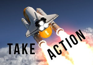 take action spaceshuttle
