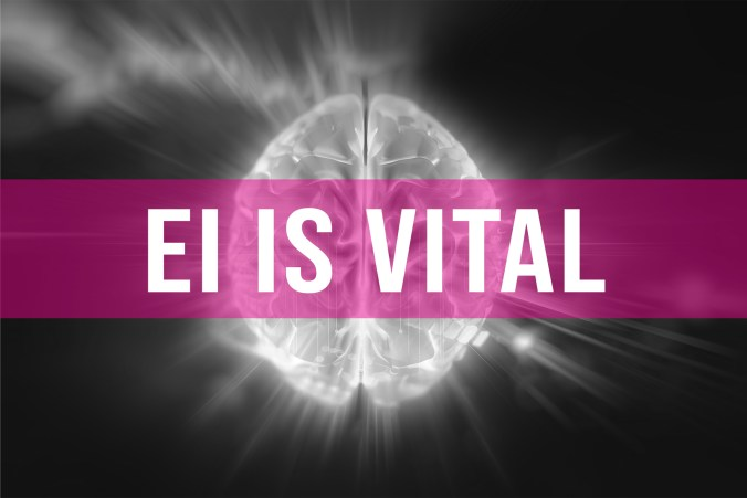 Emotional Intelligence or EI is vital