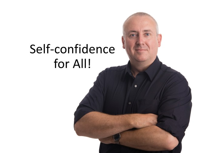 The author Andrew D. Pope announcing the Self-confidence for all project