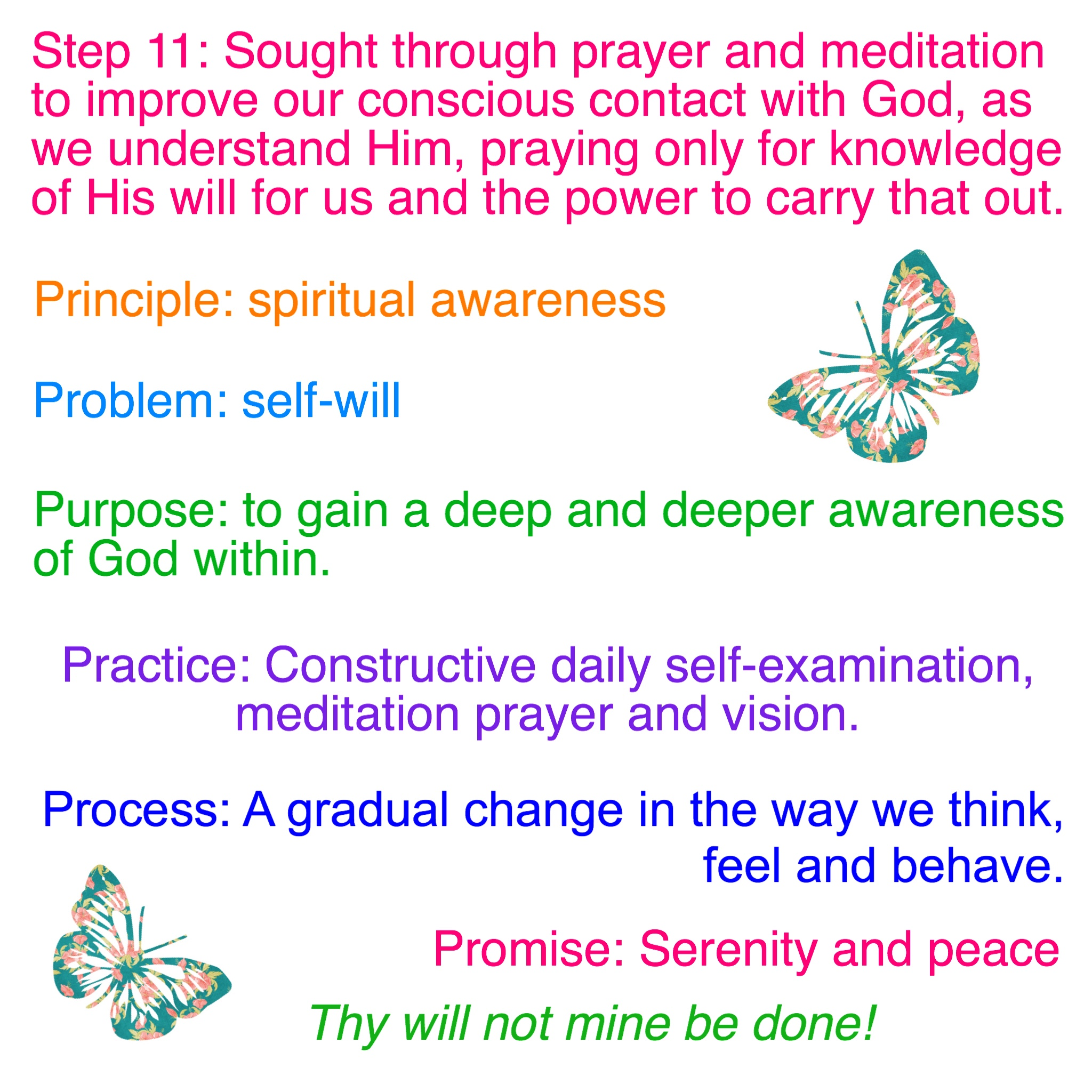 Step 11 Amp Tradition 11 Worksheets Emotional Sobriety And Food