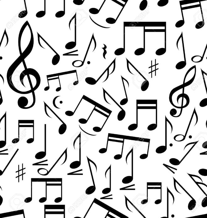 14850588-Musical-notes-seamless-Stock-Vector-music