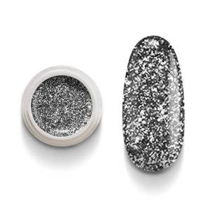 Cg209 Black Flakes Color Gel Uv Led per laccature su Gel e Acrigel