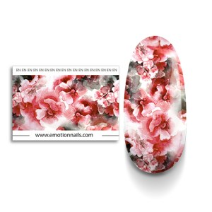 art foil red flower