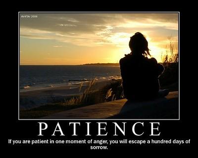 Patience versus colère
