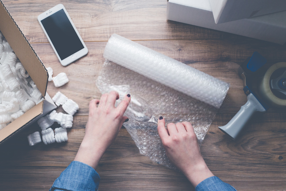 bubble wrap packing valuable objects