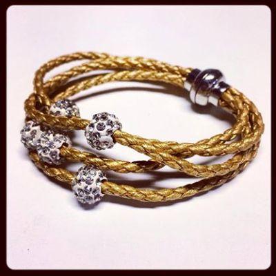 Gold plaited bracelet