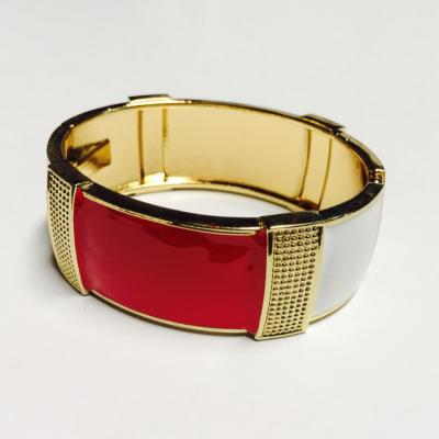 Red and gold enamel bangle