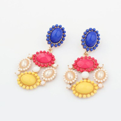Candy coloured chandelier earrings