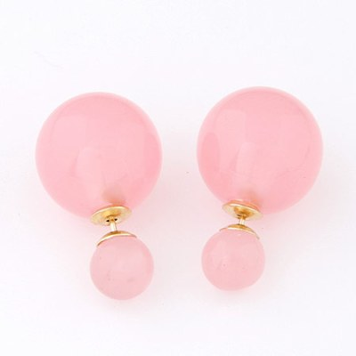 Reverse ball studs pale pink