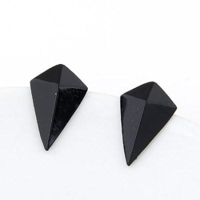 Kite shaped studs in black