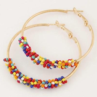 Beaded hoops multicolour