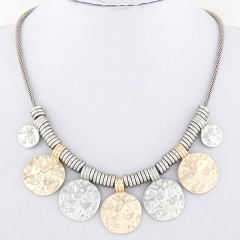 Rhiana metal necklace silver and gold