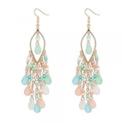 Bohemian long beaded earrings
