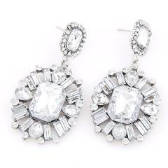 Princess gem chandelier earrings