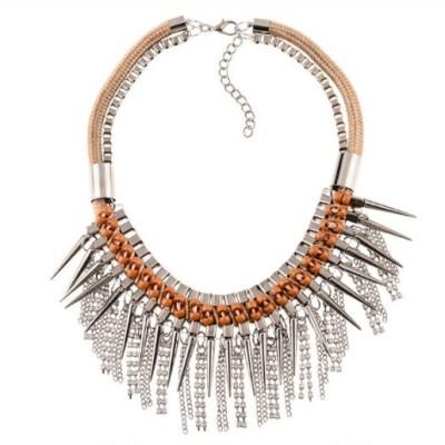 Velvet punk necklace