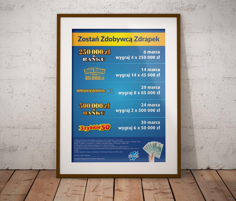Lotto Plakat przygotowany na potrzeby konkursu organizowanego przez Totalizator Sportowy, czyli popularne Lotto.
