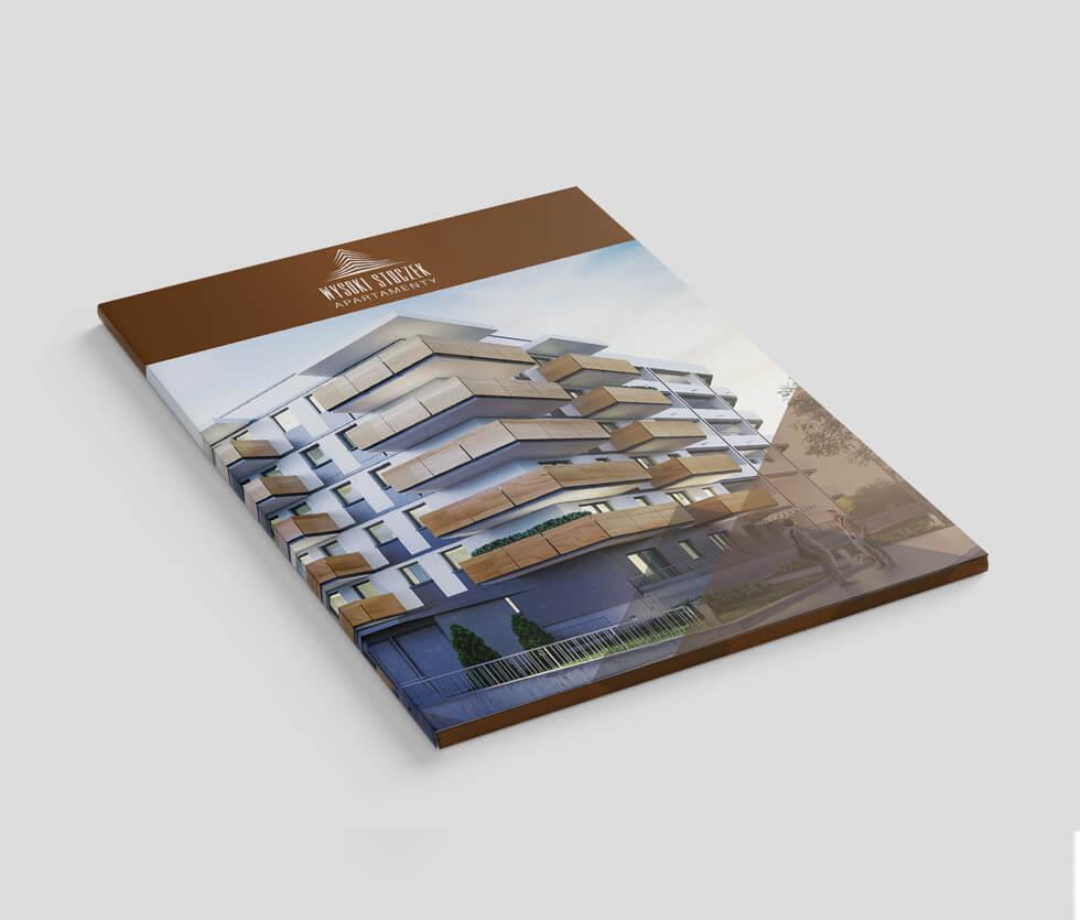 Kombinat budowlany Teczka a także logo zaprojektowane dla jednej z inwestycji Kombinatu Budowlanego a ściślej Wysoki Stoczek Apartamenty.