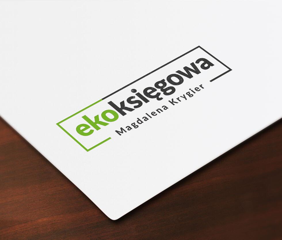 Ekoksięgowa Logo stworzone dla księgowości online.