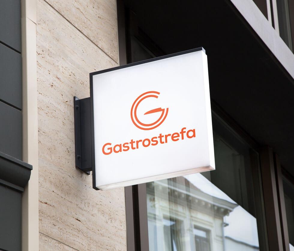 Gastrostrefa Identyfikacja wizualna przygotowana dla lokalnej marki posiadającej w swej rodzinie m.in. restauracje oraz firmę cateringową.