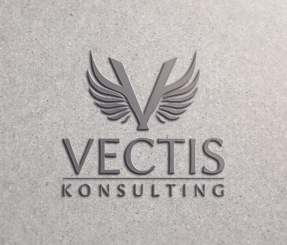 Vectis Konsulting Logo przygotowane dla firmy konsultingowej.