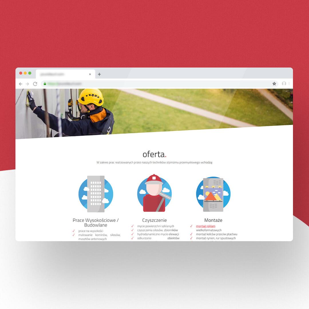 Grafika przedstawia zrzut ekranu przeglądarki internetowej. Widzimy stronę internetową grupa-pood.pl
