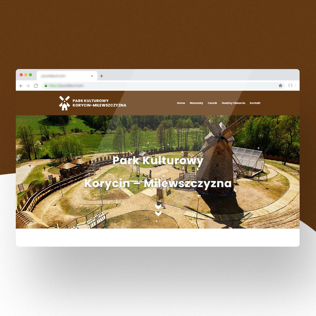 Grafika przedstawia zrzut ekranu przeglądarki internetowej. Widzimy stronę internetową milewszczyzna.pl
