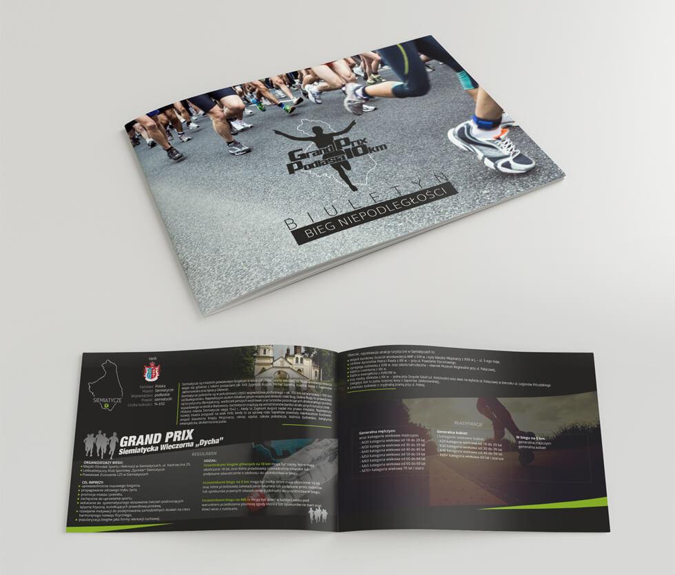 Bieg Niepodległości Kolejny rok współpracy i kolejny projekt, tym razem Biuletyn Biegu Niepodległości, stworzony dla organizatora Grand Prix Podlasia.