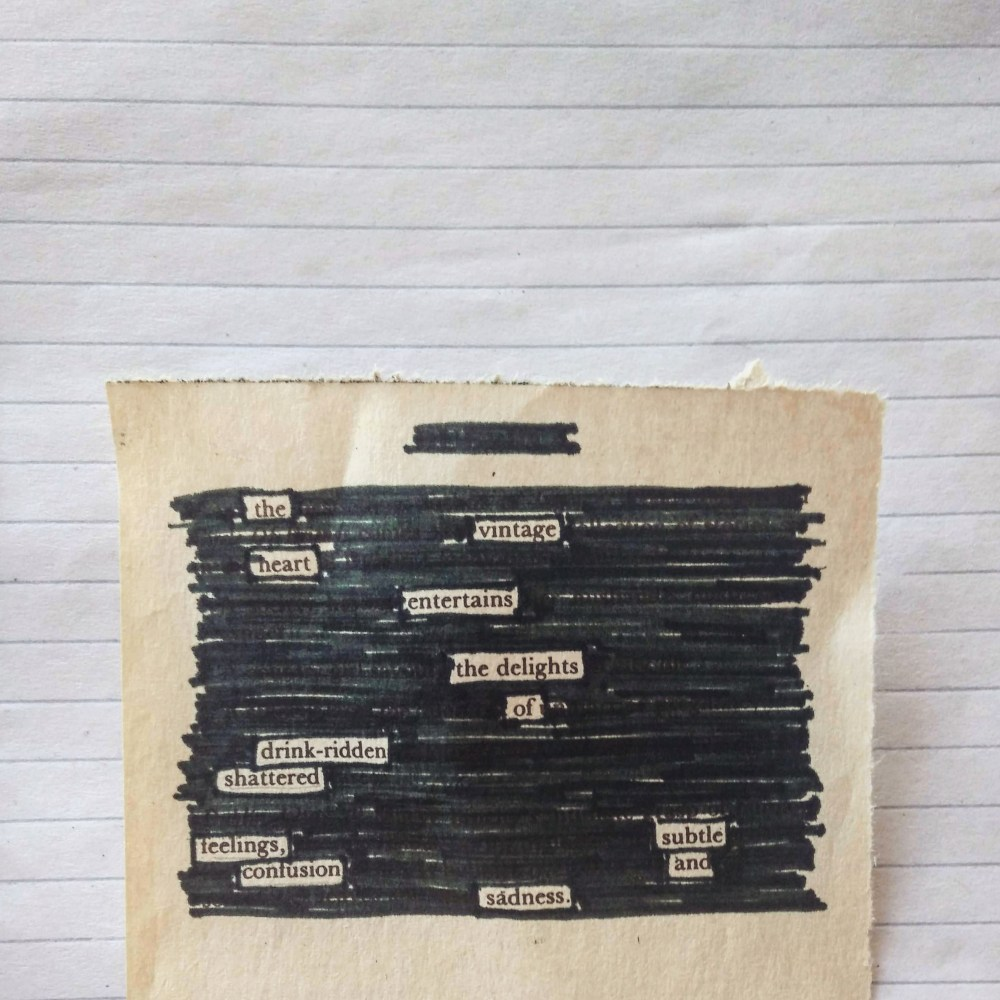 so i attempted a blackout poem...