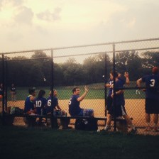 My brother Jim and his friends playing their last softball game of the season in Central Park