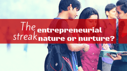 Millennials! Are you an Entrepreneurial Generation? Know yourself first.