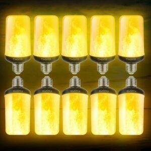 Die beste Option für Flammenglühbirnen: Dyforce LED-Flammenglühbirnen, 4 Modi, 10er-Pack