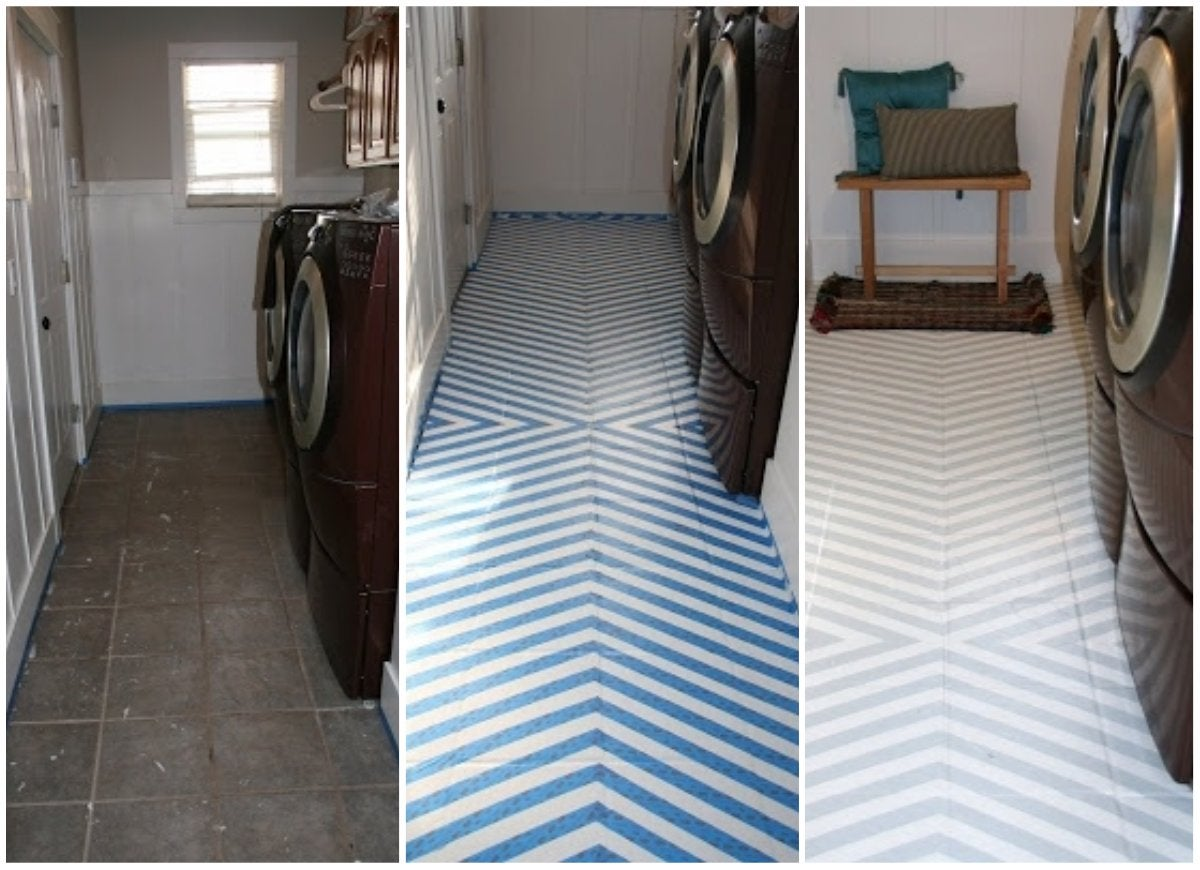 the best painted tile floors on the