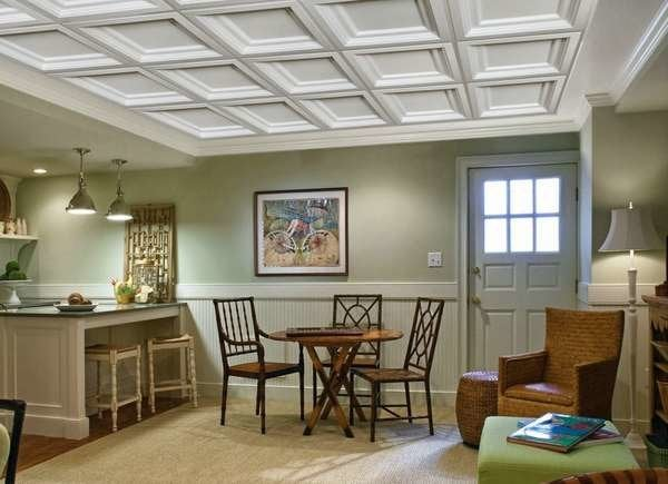 10 drop ceiling ideas to dress up any