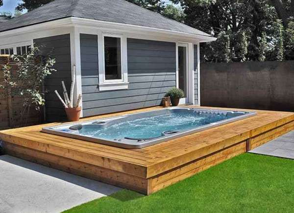 15 hot tub deck ideas for a relaxing