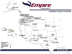 Empire Airlines Route Map