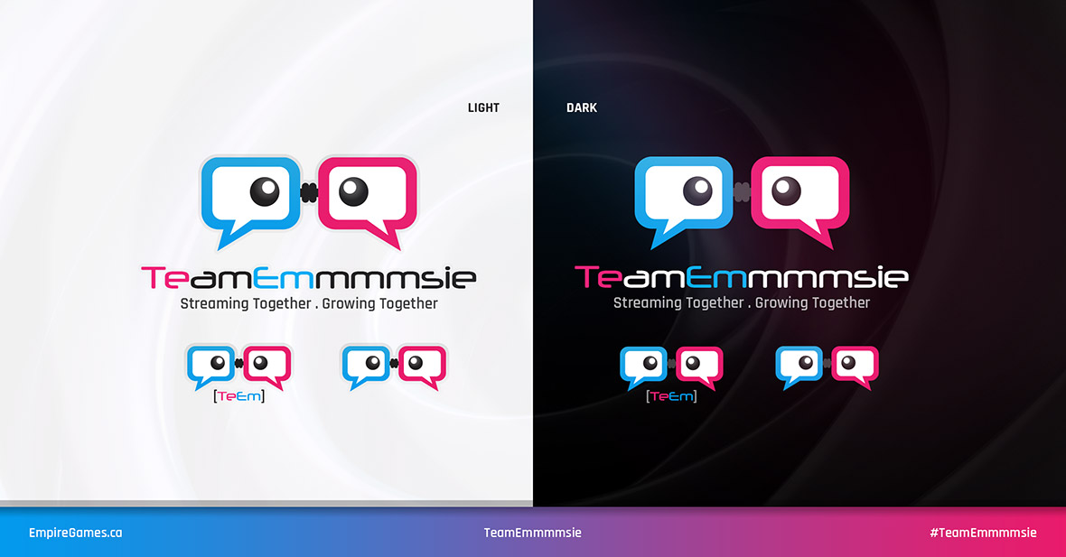 TeamEmmmmsie Logo Update - Versions