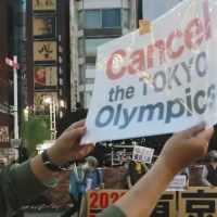 Protesters call for cancellation of Tokyo Olympic games