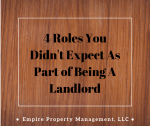Part of Being A Landlord