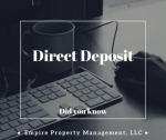 Did You Know #5- Direct Deposit